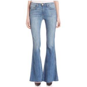 Current/Elliot High Rise Raw Hem Flare Jeans
